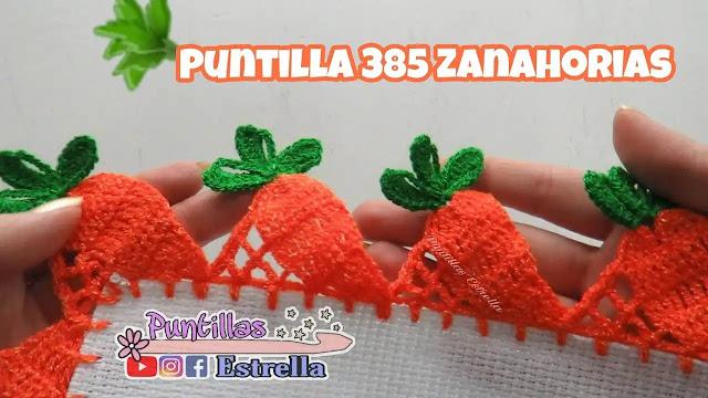 Decora tus toallas de cocina con esta puntilla de zanahoria a crochet