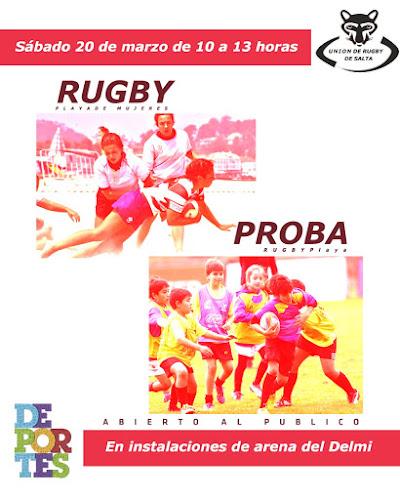 Rugby playa femenino en Salta