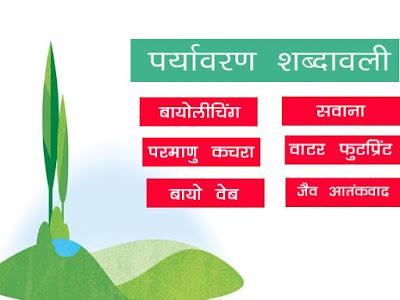 Environmental Terminology in Hindi   पर्यावरण शब्दावली