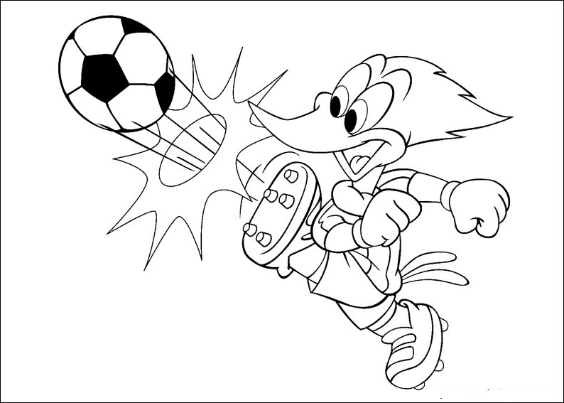 free woody woodpecker coloring pages - photo#21
