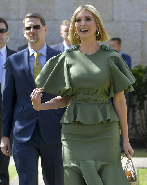Ivanka Trump's Big Fashion Statement Foiled by Mother Nature ...