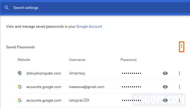 exports chrome passwords