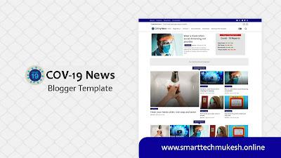 Cov-19 News - Responsive Magazine Blogger Template