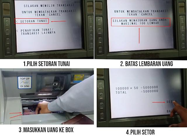 Cara Setor Tunai BCA di ATM