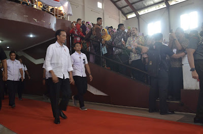 Plt Bupati Sambut Kunjungan Presiden Joko Widodo