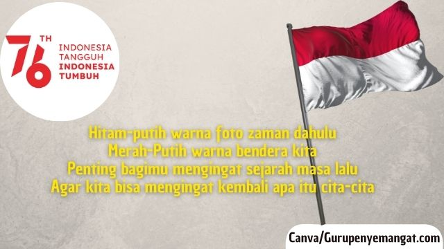 Kumpulan Pantun Indonesia Merdeka Tahun 2021