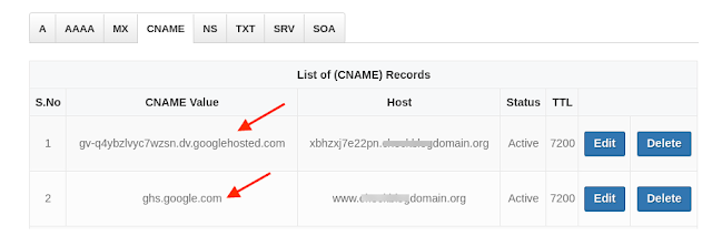 Add custom domain blogger