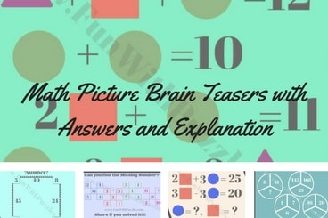 Math Picture Brain Teasers with Answers and Explanation-Fun
