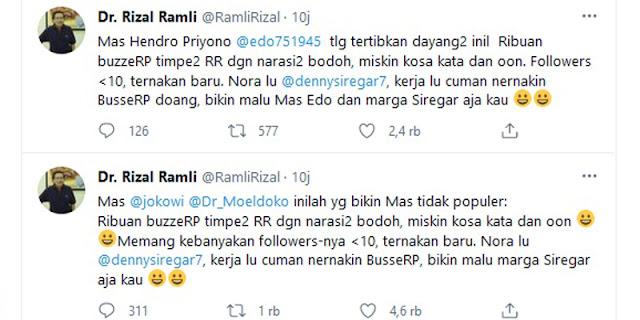 """Syafril Sjofyan: RR Mention Jokowi, Moeldoko Dan Hendropriyono Karena Tahu Siapa """"Kakak Pembina"""""""