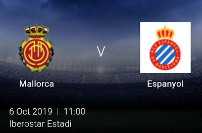 LIVE MATCH: Mallorca Vs Espanyol Spanish Laliga 06/10/2019