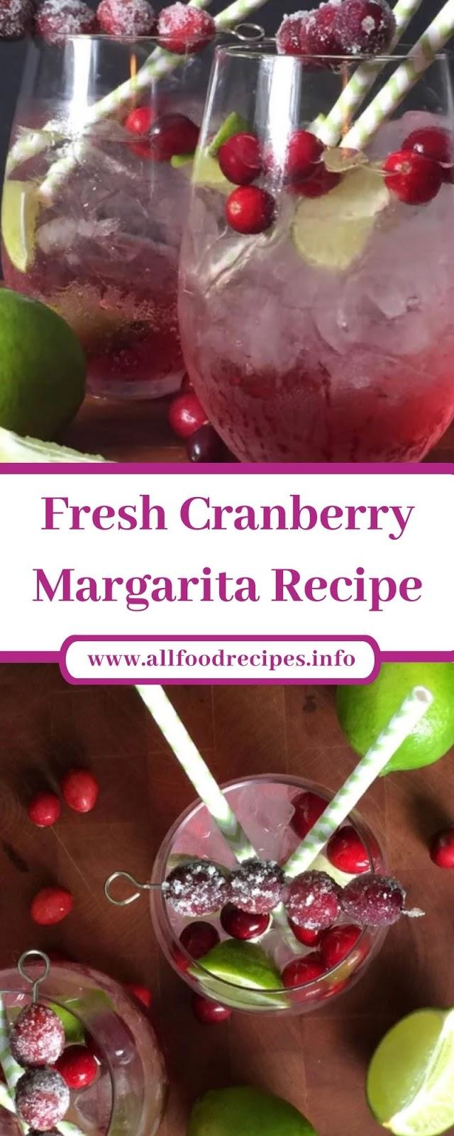 Fresh Cranberry Margarita Recipe