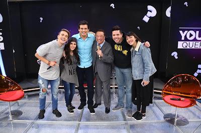 Celso e Raul com os youtubers (Crédito: Rodrigo Belentani)