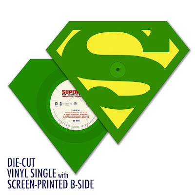San Diego Comic-Con 2015 Exclusive Superman: The Animated Series Die-Cut Single Record by Shirley Walker x Phantom City Creative x Mondo - Kryptonite Green Vinyl