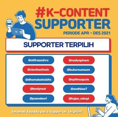 Apa itu K-Content Supporter?