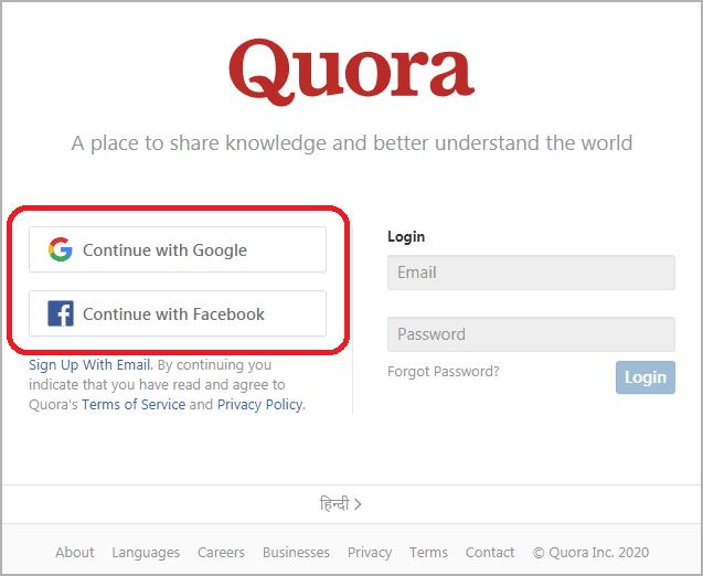 quora par account kaise banaye, how to create an quora account