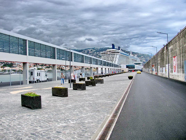 Funchal port perspective
