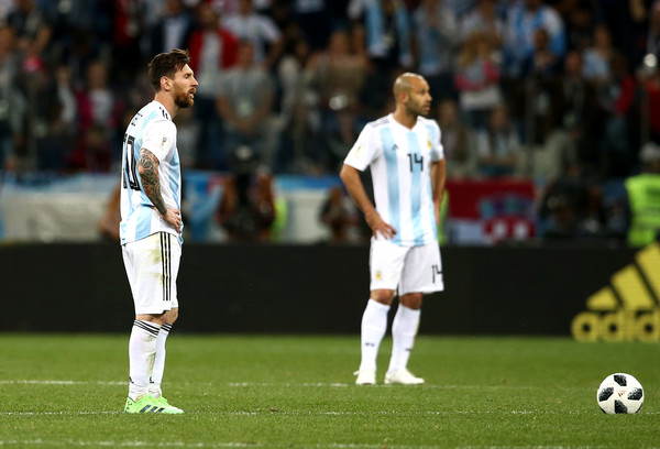 Messi and Mascherano shocked after during croatia world cup win vs Argentina