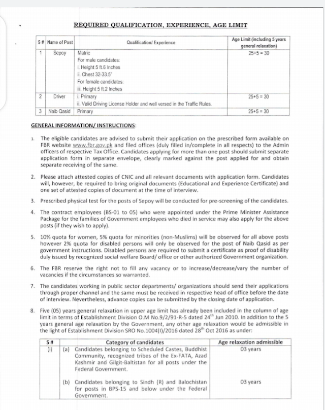 Federal Board Of Revenue Jobs | FBR Jobs 2021 online apply