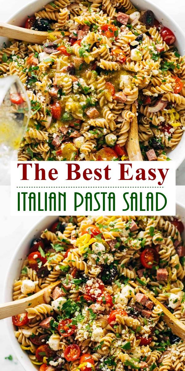 The Best Easy Italian Pasta Salad #pastarecipes
