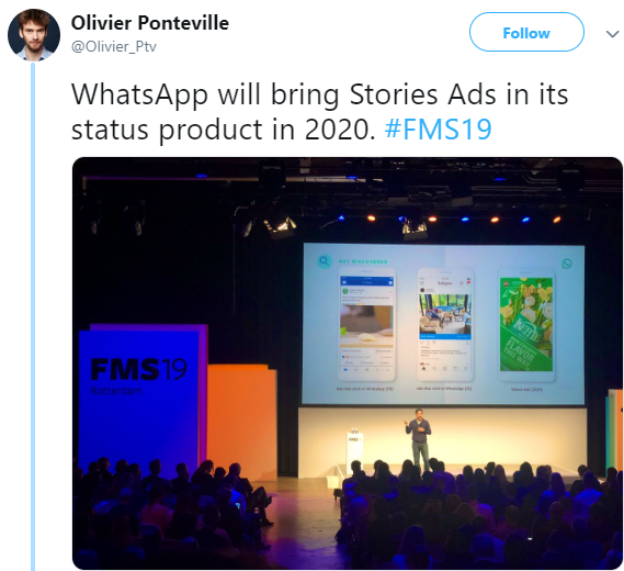 WhatsApp Ads Coming soon in Stories from 2020