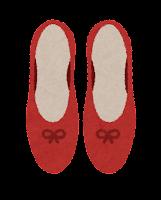 上から見た靴のイラスト(パンプス)