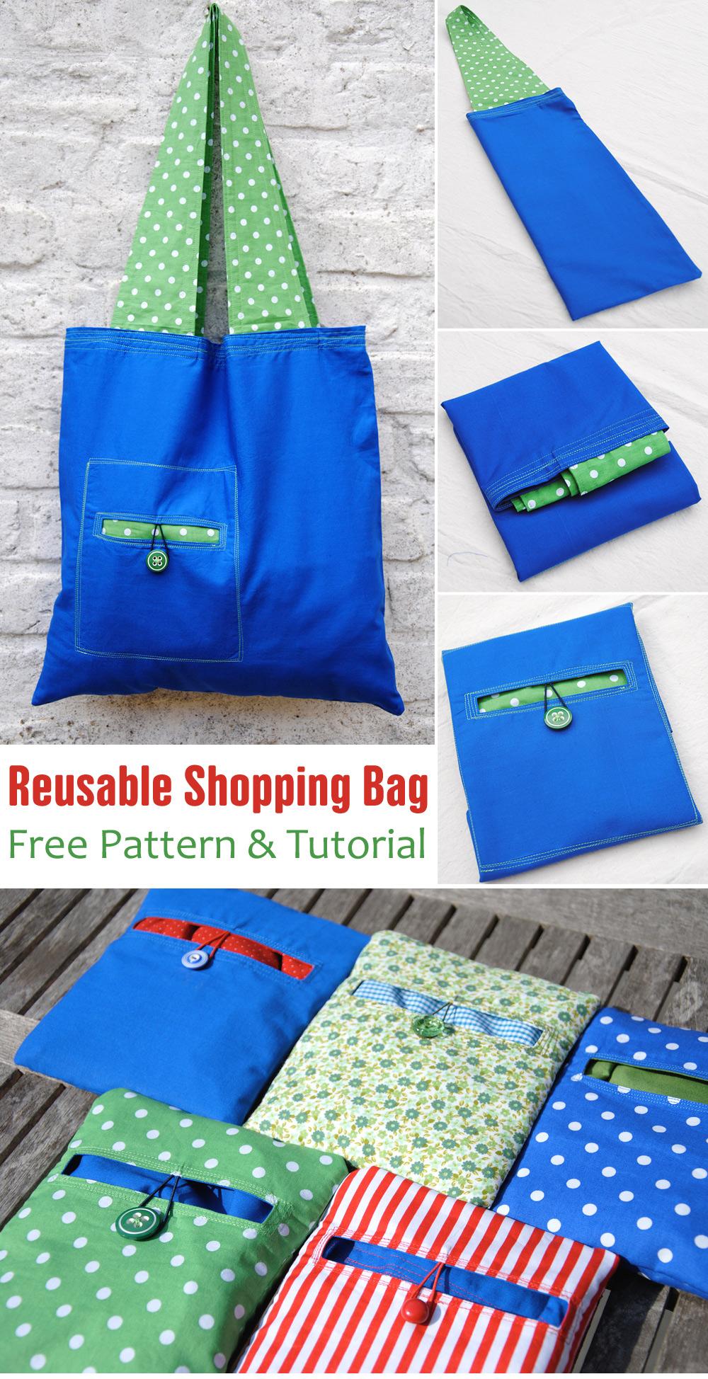 Reusable Shopping Bag Pattern & Tutorial
