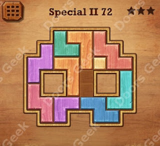 Cheats, Solutions, Walkthrough for Wood Block Puzzle Special II Level 72