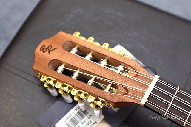 Baton Rouge V2T8 Sun 8 String Tenor ukulele headstock