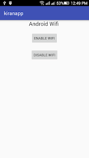 Android wifi enable mode