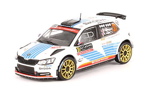 collezione rally monte carlo Skoda Fabia R5 2017 A. Mikkelsen - A. Jaeger