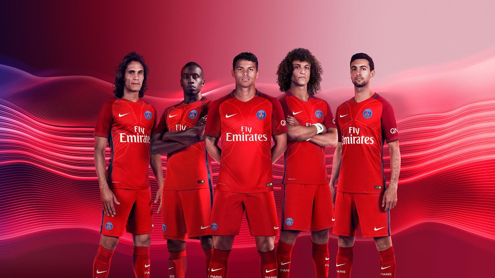 Blue Shades Paris Saint Germain 16 17 Away Kit Released Footy Headlines