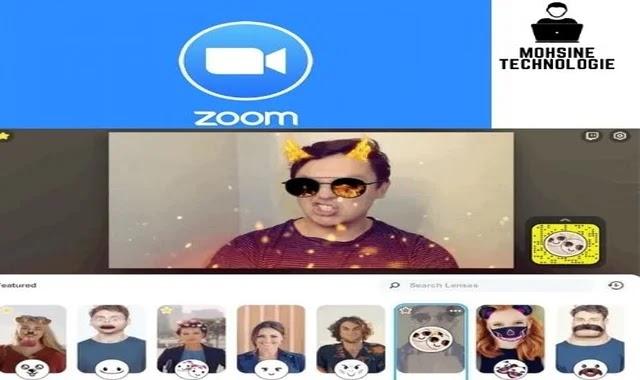 كيفية استخدام فلاتر سناب شات في تطبيق زوم Zoom