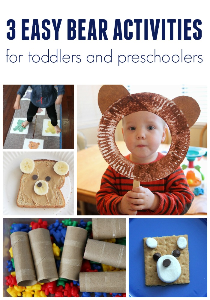 Toddler Approved Three Easy Bear Themed Activities For Toddlers