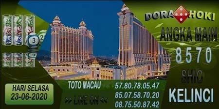Prediksi Dora Hoki Toto Macau Selasa 23 Juni 2020