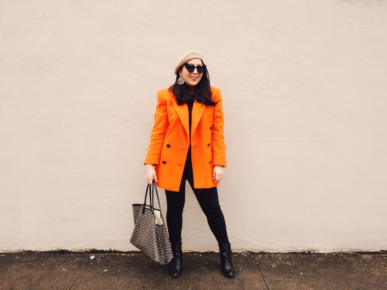 Orange Jacket, Orange Blazer Outfit, Orange and Black Outfit, Escada Blazer, Escada Vintage