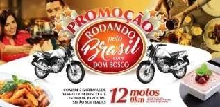 Cadastrar Promoção Dom Bosco Vinho 12 Motos - Nova Promoção Rodando Pelo País 2019