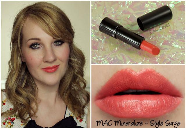 MAC Style Surge Mineralize Rich lipstick swatch