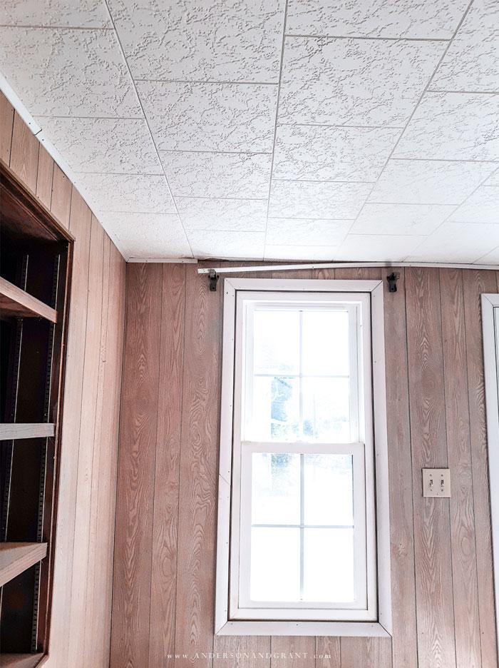 white ceiling tiles