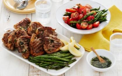 Garlicky Lamb Chops