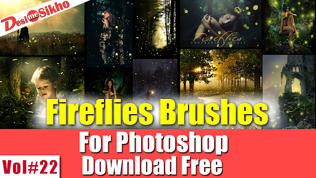 Fireflies Brushes Effect For Photoshop Download Free Vol#22