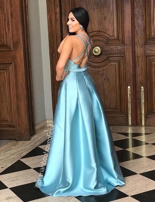 vestido longo azul tiffany para madrinha