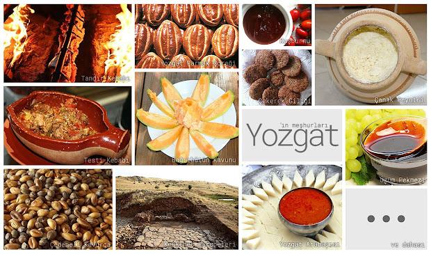 Yozgat'ın meşhur şeylerini gösteren resimlerden oluşan kolaj
