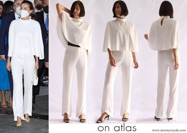 Queen Letizia wore On Atlas short cape