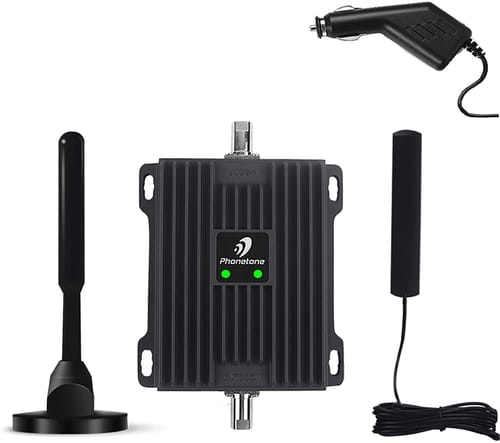 Phontone Cell Phone Signal Booster for Car SUV and Truck