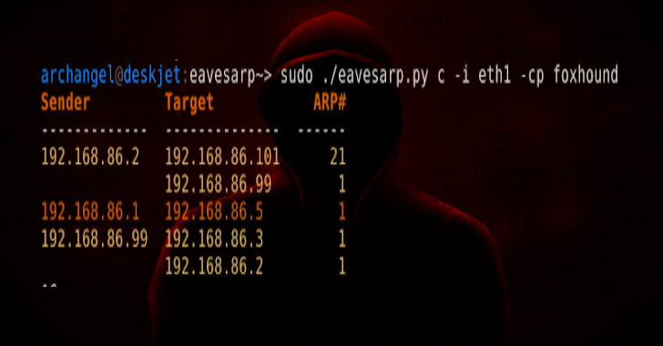 Eavesarp : Analyze ARP Requests To Identify Intercommunicating Hosts