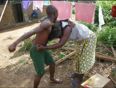 Image result for man and woman fighting in nigeria