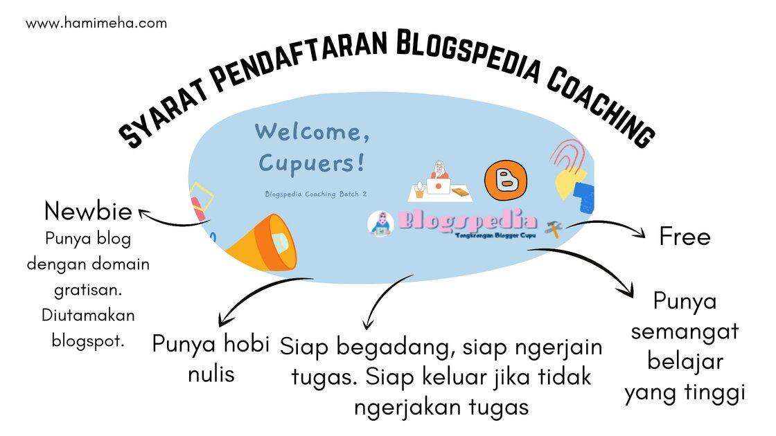 Syarat pendaftaran blogspedia coaching