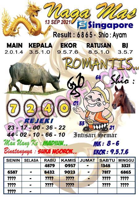 Syair Nagamas SGP Senin 13 September 2021