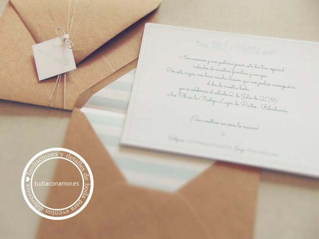 Inspiración e ideas de invitaciones de boda modernas, sencillas, bonitas e informales