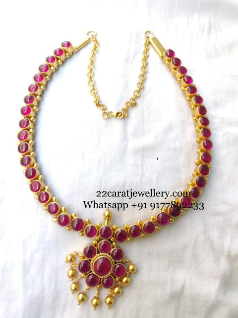 Pretty Necklace in Silver Kundan Jhumkas